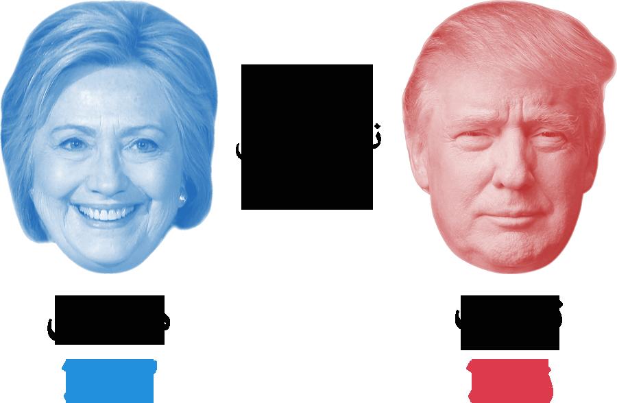 هیلاری vs ترامپ