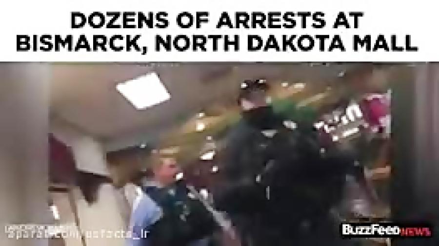 درگيرى پلیس با بومی های مخالف احداث خط لوله