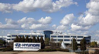 کارخانه خودروسازی «هیوندای موتور» در مونتگمری در سال ۲۰۱۰ (۱۳۸۹).
