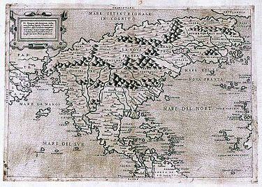 نقشهای از سرزمینهای آمریکا بسال ۱۵۶۶ میلادی