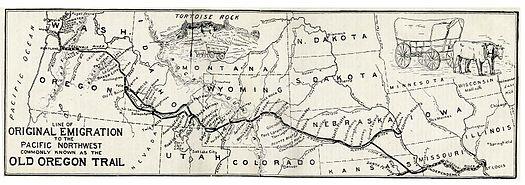 نقشهای قدیمی از مسیر اورگن.