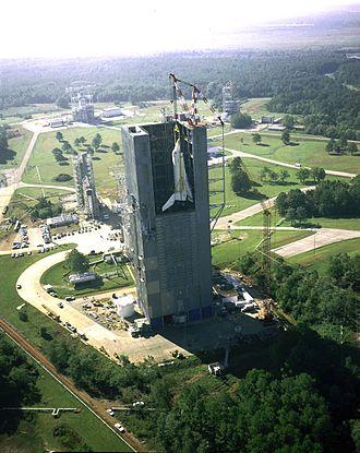 فضاپیمای انترپرایز که در مرکز پروازهای فضایی مارشال در سال ۱۹۷۸ (۱۳۵۷) مورد آزمایش قرار گرفتهاست.