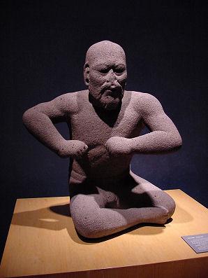 کشتیگیر، از تندیسهای روزگار اولمک، ۱۲۰۰ تا ۸۰۰ پیش از میلاد.