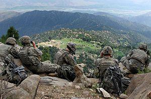 تصویری از نیروهای ویژه ارتش ایالات متحده آمریکا در افغانستان.