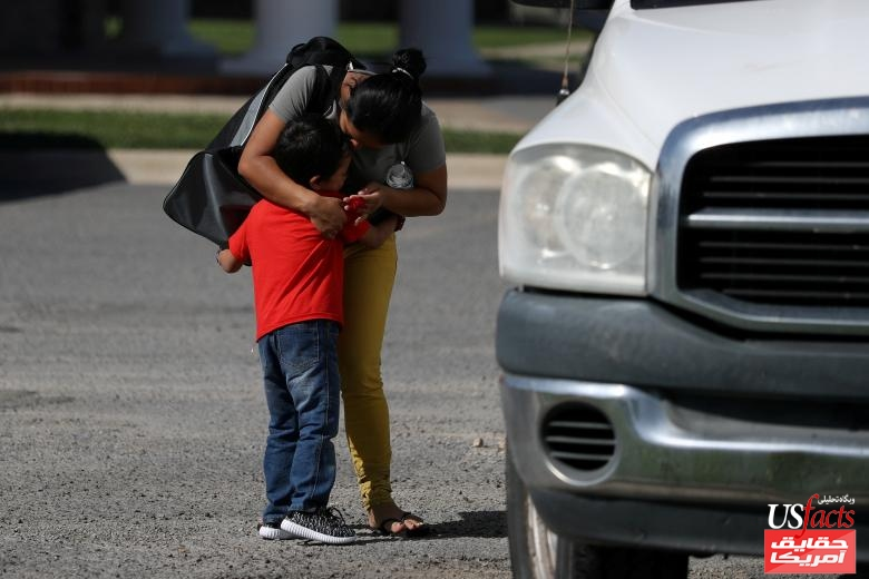 An asylum seeker from Honduras separated from her six year-old son near the Mexico-U.S. border is reunited with him in Harlingen