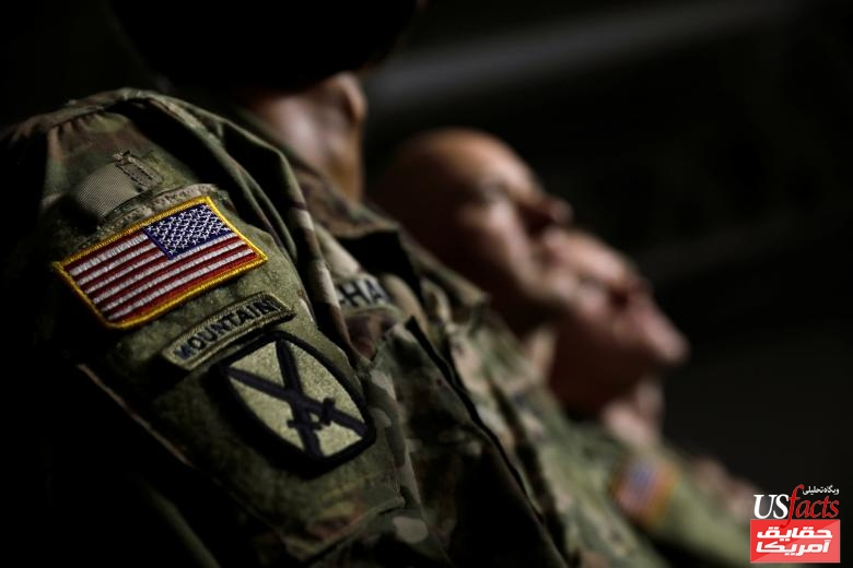 U.S. Army soldiers listen as President Trump speaks before signing the National Defense Authorization Act at Fort Drum, New York