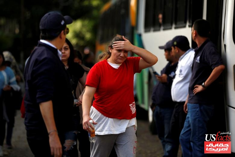 A person deported from the U.S. arrives at an immigration facility in San Salvador, El Salvador