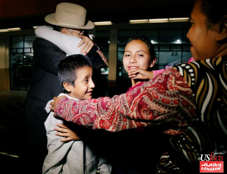 """Anthony David Tobar, who was separated from his mother at the U.S. border under U.S. President Donald Trump's """"zero tolerance"""" immigration policy, greets family members after his deportation, in Guatemala City"""