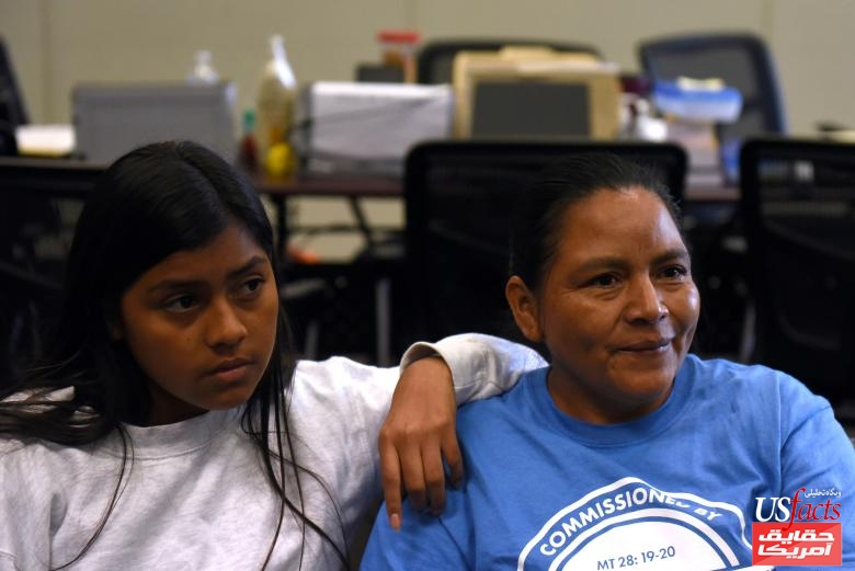 Reunited mother and daughter speak with media at Catholic Charities in San Antonio