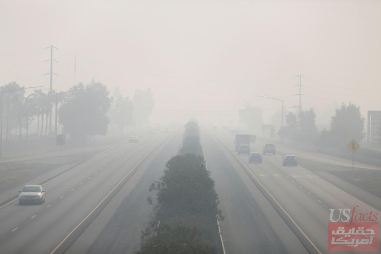Smoke from the Camp Fire blankets Highway 99 in Chico