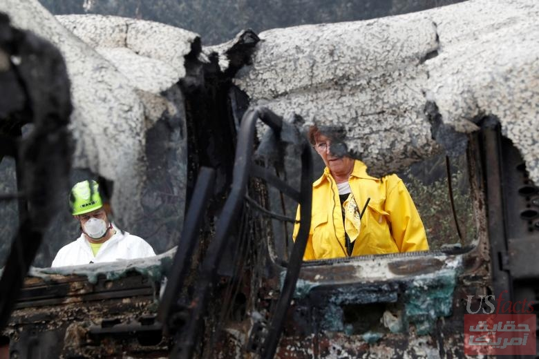Atkinsons search for human remains in a van destroyed by the Camp Fire in Paradise
