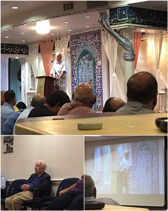 حضور دو پزشک آمریکایی در مسجد صبا در خصوص برداشتن حکم اعدام در آمریکا