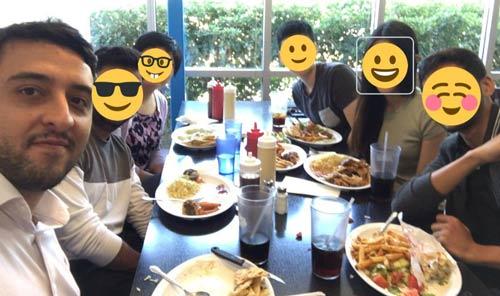 رفتن به رستوران با همکاران در اولین روز کاری