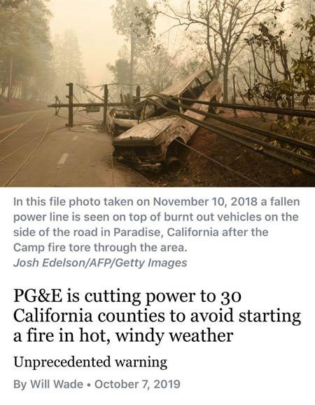 قطعی برق از ترس آتشسوزی در سیلیکونولی!