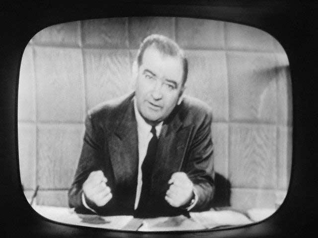 Senator Joseph R. McCarthy on Television Broadcast