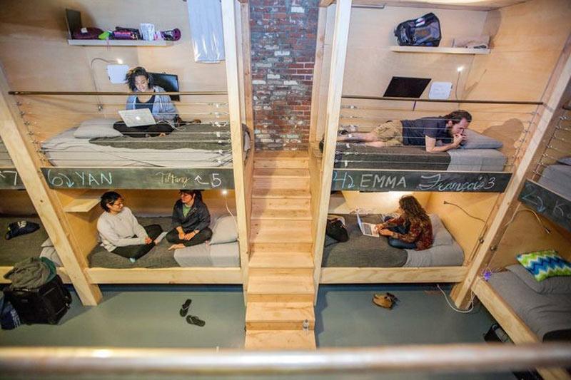 تختِخوابهای-چندطبقه-در-PodShare-شعبه-ی-لس-آنجلس