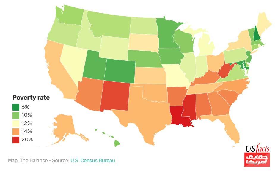 توزیع-فقر-به-تفکیک-ایالت-ها-در-آمریکا