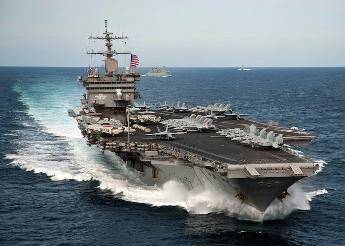 کشتیهای جنگیِ آمریکا محو میشوند