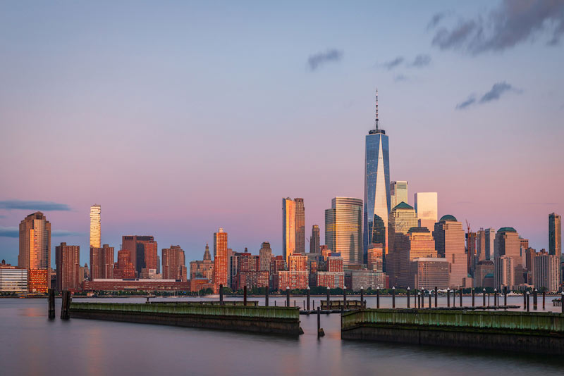View to Manhattan Skyline from New Jersey.
