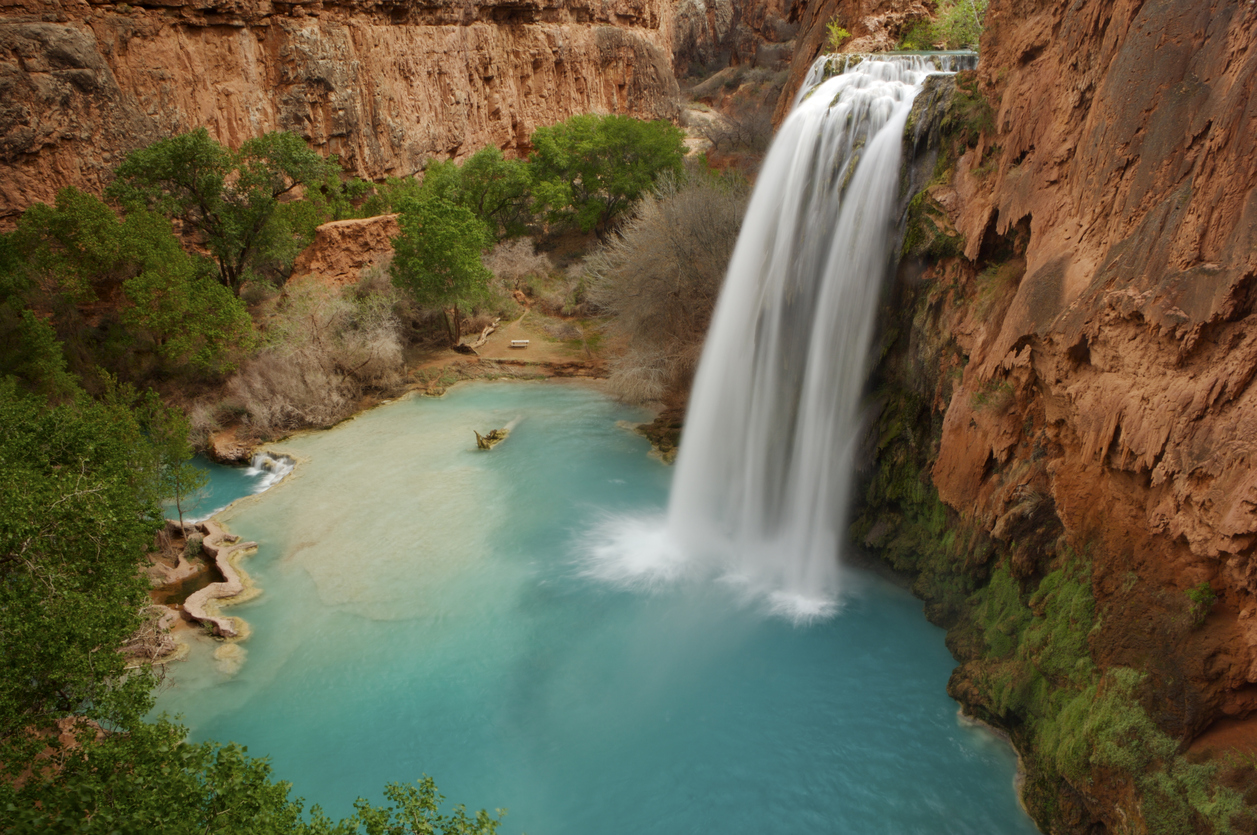Magnificent long exposure picture of Havasu Falls